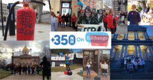 photo collage of high school students taking action at the NH State house
