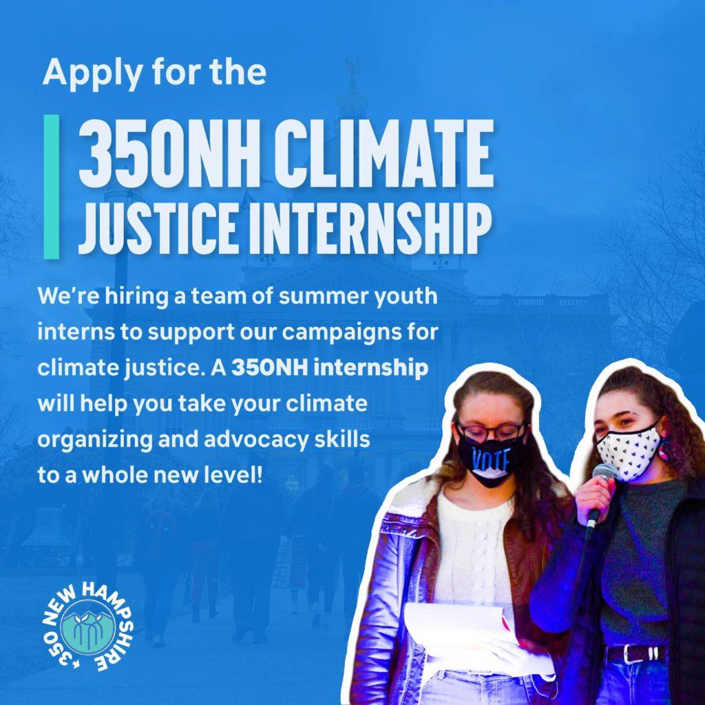 350NH Summer Climate Justice Internship