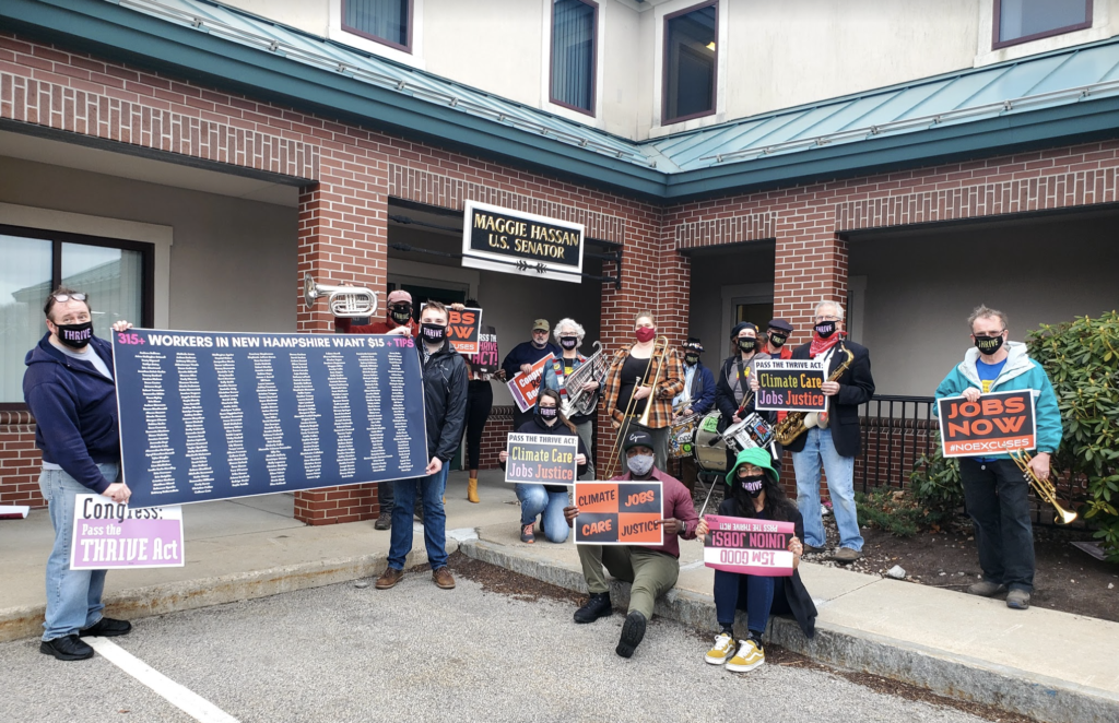 Residents Across New Hampshire Rally to Demand a Bold Economic Plan to Put Millions Back to Work