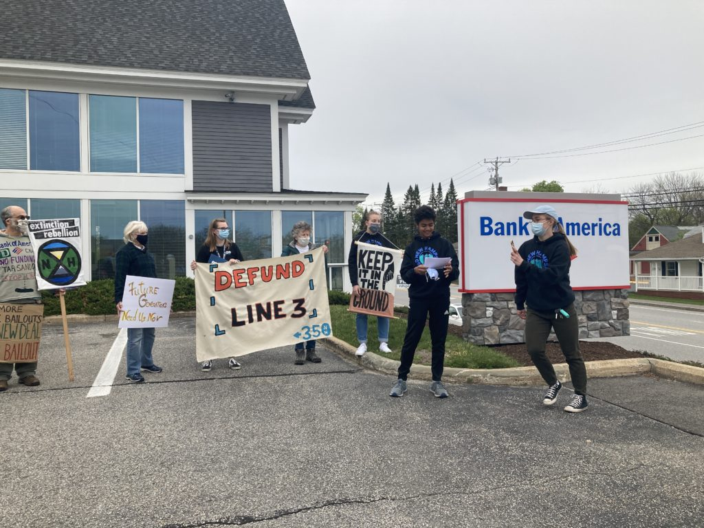 Youth Protest Bank of America Funding Fossil Fuels